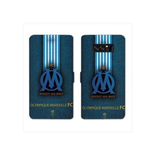 RV Housse cuir portefeuille Samsung Galaxy S10e Olympique Marseille OM Bande