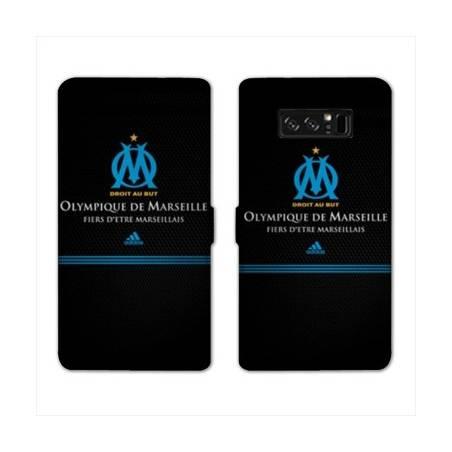 RV Housse cuir portefeuille Samsung Galaxy S10e Olympique Marseille OM Fier etre Marseillais
