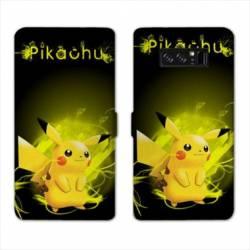 RV Housse cuir portefeuille Samsung Galaxy S10e Pokemon Pikachu eclair