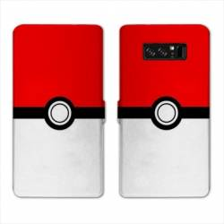 RV Housse cuir portefeuille Samsung Galaxy S10e Pokemon Pokeball
