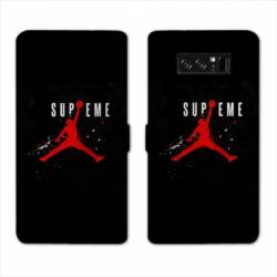 RV Housse cuir portefeuille Samsung Galaxy S10e Jordan Supreme Noir