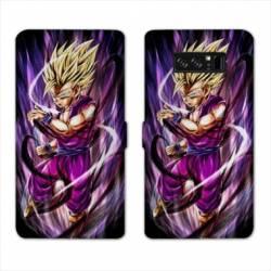 RV Housse cuir portefeuille Samsung Galaxy S10 PLUS Manga Dragon Ball Sangohan violet