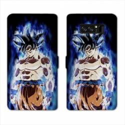 RV Housse cuir portefeuille Samsung Galaxy S10 PLUS Manga Dragon Ball Sangoku Noir