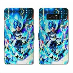 RV Housse cuir portefeuille Samsung Galaxy S10 PLUS Manga Dragon Ball Vegeta Bleu