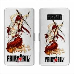 RV Housse cuir portefeuille Samsung Galaxy S10 PLUS Manga Fairy Tail Erza