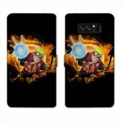 RV Housse cuir portefeuille Samsung Galaxy S10 PLUS Manga Naruto noir