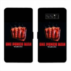 RV Housse cuir portefeuille Samsung Galaxy S10 PLUS Manga One Punch Man poing