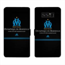 RV Housse cuir portefeuille Samsung Galaxy S10 PLUS Olympique Marseille OM Fier etre Marseillais
