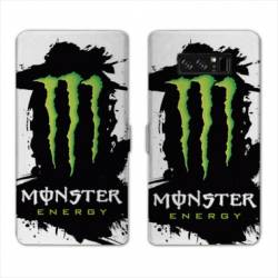 RV Housse cuir portefeuille Samsung Galaxy S10 PLUS Monster Energy tache