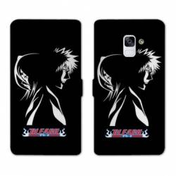 RV Housse cuir portefeuille Samsung Galaxy S9 Manga Bleach duo