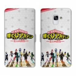 RV Housse cuir portefeuille Samsung Galaxy S9 Manga My hero academia blanc