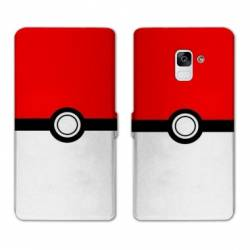 RV Housse cuir portefeuille Samsung Galaxy S9 Pokemon Pokeball