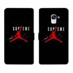 RV Housse cuir portefeuille Samsung Galaxy S9 Jordan Supreme Noir