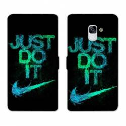 RV Housse cuir portefeuille Samsung Galaxy S9 Nike Just do it