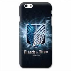 Coque Iphone 6 / 6s Manga Attaque titans noir