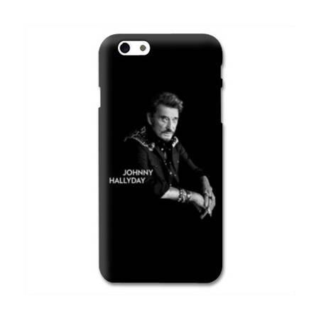 Coque Iphone 6 / 6s Johnny Hallyday Noir