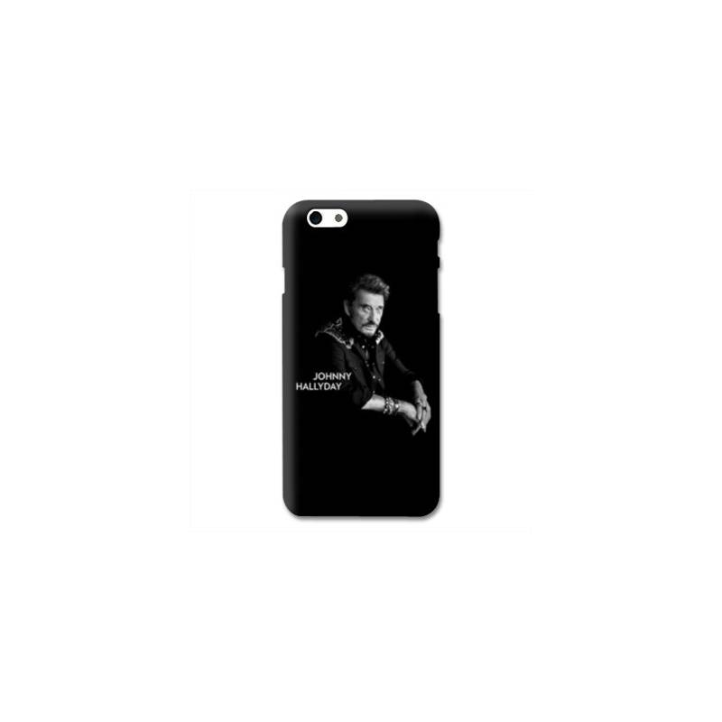 Coque Iphone 6 / 6s Johnny Hallyday Noir