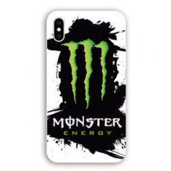 Coque Iphone X / XS Monster Energy tache