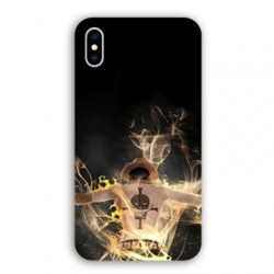 Coque Iphone XR Manga One Piece Ace noir