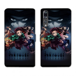 RV Housse cuir portefeuille Huawei P30 PRO Manga Demon Slayer Noir