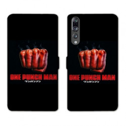 RV Housse cuir portefeuille Huawei P30 PRO Manga One Punch Man poing