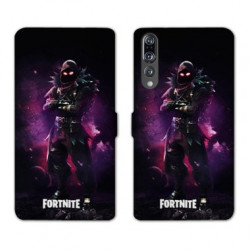RV Housse cuir portefeuille Huawei P30 PRO Fortnite Raven