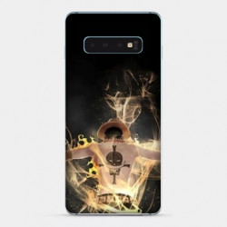 Coque Samsung Galaxy S10e Manga One Piece Ace noir