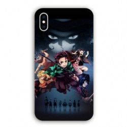 Coque Iphone XS Max Manga Demon Slayer Noir