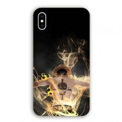 Coque Iphone XS Max Manga One Piece Ace noir