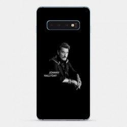 Coque Samsung Galaxy S10e Johnny Hallyday Noir