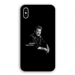 Coque Iphone XS Max Johnny Hallyday Noir
