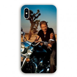 Coque Iphone XS Max Johnny Hallyday Moto