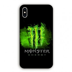 Coque Iphone XS Max Monster Energy Vert