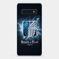 Coque Samsung Galaxy S10 Manga Attaque titans noir