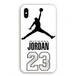 Coque Iphone XS Max Jordan 23 Blanc