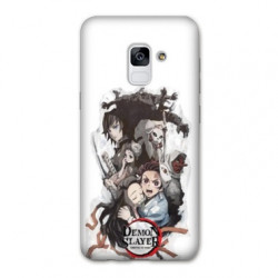 Coque Samsung Galaxy S9 Manga Demon Slayer Blanc