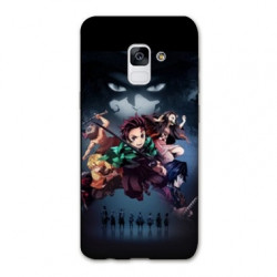 Coque Samsung Galaxy S9 Manga Demon Slayer Noir
