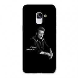 Coque Samsung Galaxy S9 Johnny Hallyday Noir