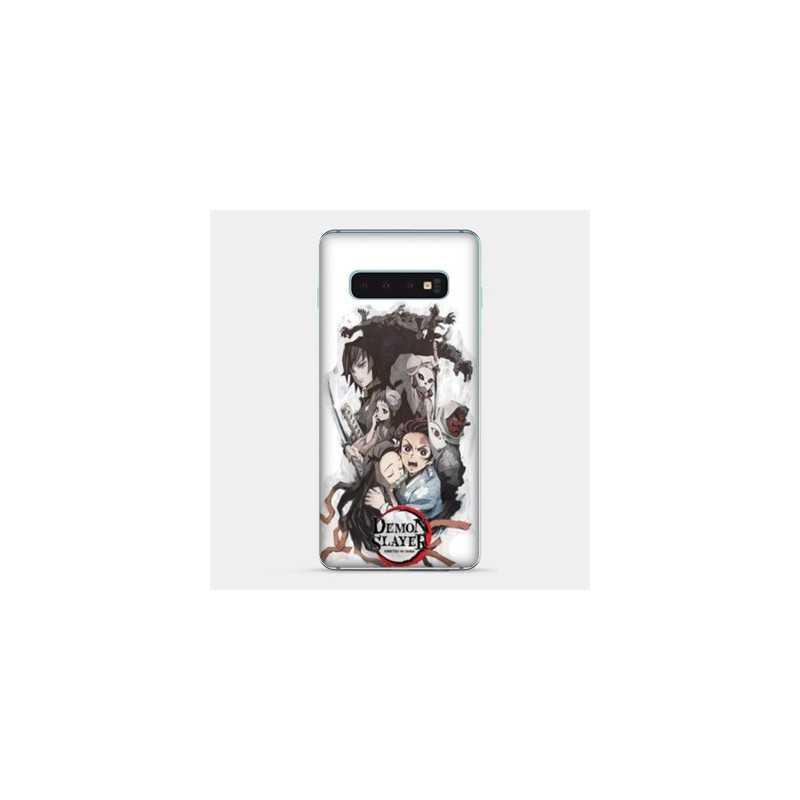 Coque Samsung Galaxy S8 Manga Demon Slayer Blanc
