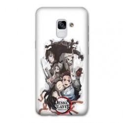 Coque Samsung Galaxy J6 (2018) - J600 Manga Demon Slayer Blanc