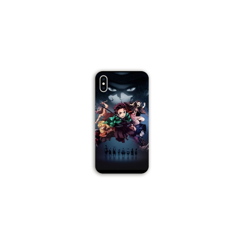 Coque Samsung Galaxy A10 Manga Demon Slayer Noir