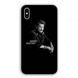 Coque Samsung Galaxy A10 Johnny Hallyday Noir