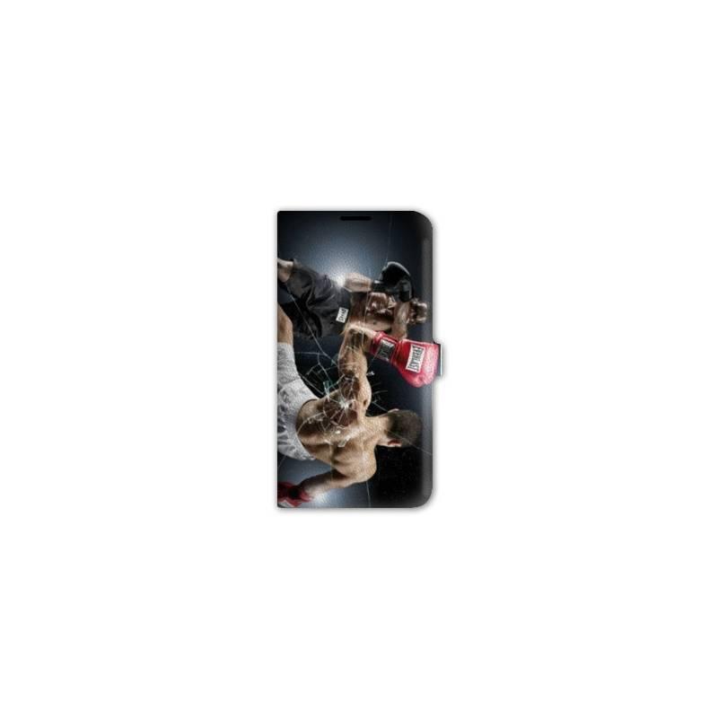 Housse cuir portefeuille pour iphone 6 / 6s  Sport Combat