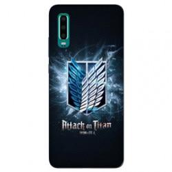 Coque Samsung Galaxy A50 Manga Attaque titans noir