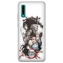 Coque Samsung Galaxy A50 Manga Demon Slayer Blanc