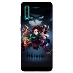 Coque Samsung Galaxy A50 Manga Demon Slayer Noir