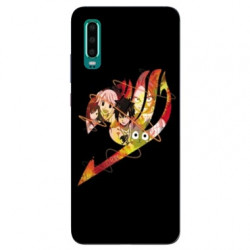 Coque Samsung Galaxy A50 Manga Fairy Tail Logo Noir
