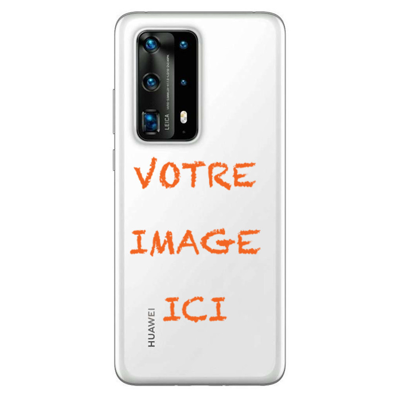 Coque transparente pour Huawei P40 personnalisée