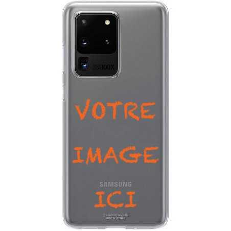 Coque transparente pour Samsung Galaxy S20 Ultra personnalisée