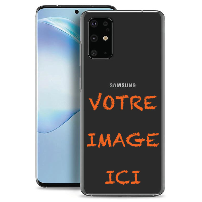 Coque transparente pour Samsung Galaxy S20 Plus personnalisée